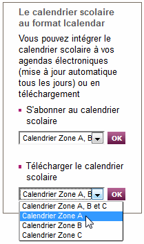 20160112 Charger calendrier scolaireEducationNationale